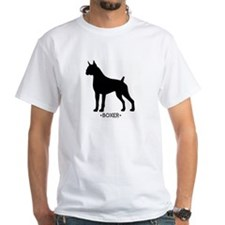 """Boxer"" - White T-shirt"