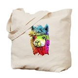 Alpaca Canvas Tote Bag