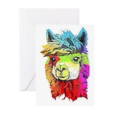 Unique Alpaca Greeting Card