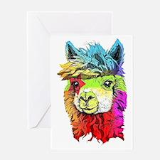 Funny Alpaca Greeting Card