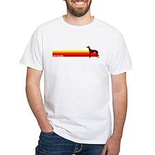 """Greyhound Stripe"" White T-shirt"