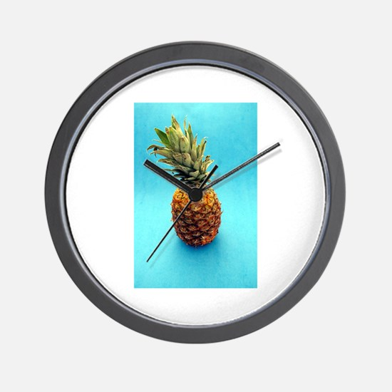 blue pineapple Wall Clock