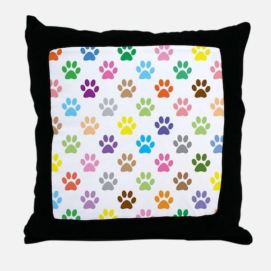 Unique Animal tracks Throw Pillow