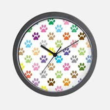 Unique Dog paw Wall Clock