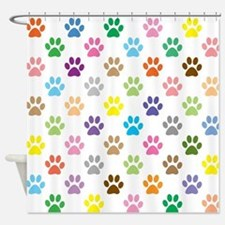 Cute Tracking Shower Curtain
