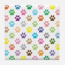 Funny Animal tracks Tile Coaster