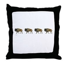 Buffalos on the way Throw Pillow