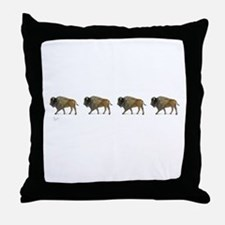 Buffalos on the way Throw Pillow