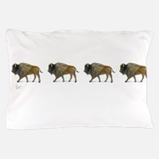 Buffalos on the way Pillow Case