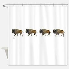 Buffalos on the way Shower Curtain