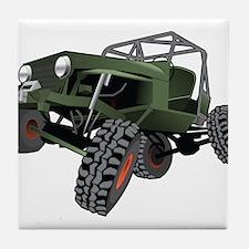 jeep truck rock crawler offroad race Tile Coaster