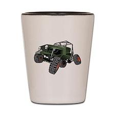 jeep truck rock crawler offroad race Shot Glass