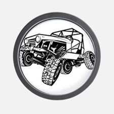 rock-crawling-jeep-outlined-only Wall Clock