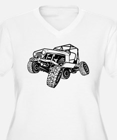 rock-crawling-jeep-outlined-only Plus Size T-Shirt
