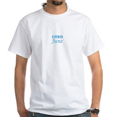 Due In June - Blue White T-shirt
