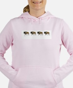 Buffalos on the way Women's Hooded Sweatshirt