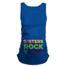 Sisters Rock the World Maternity Tank Top