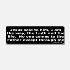 Jesus said to him Car Magnet 10 x 3