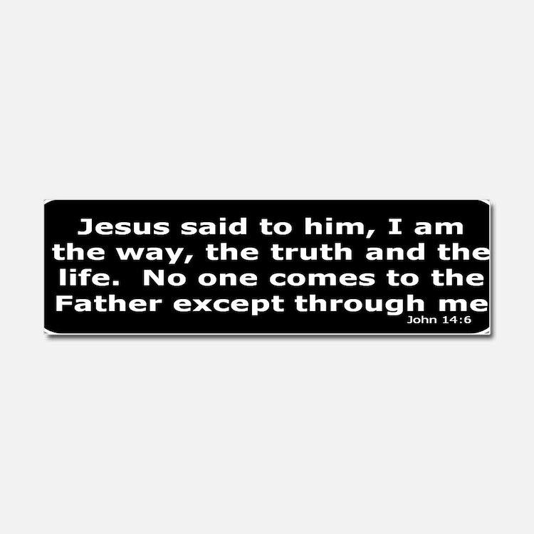 Jesus said to him Car Magnet 10 x 3