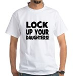 Lock Up Your Daughters! Black White T-shirt