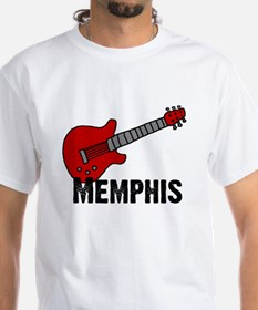 Guitar - Memphis White T-shirt