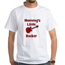 Mommy's Little Rocker White T-shirt