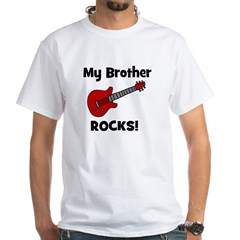 My Brother Rocks! (guitar) White T-shirt