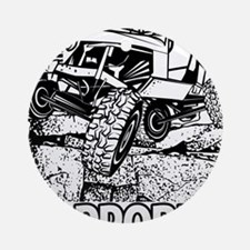 No Problem Rock Crawling Jeep Ornament (Round)