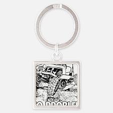 No Problem Rock Crawling Jeep Keychains