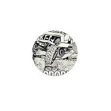 No Problem Rock Crawling Jeep Mini Button