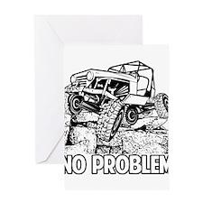 No Problem Rock Crawling Jeep Greeting Cards