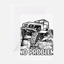 No Problem Rock Crawling Jeep Greeting Cards