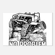 No Problem Rock Crawling Jeep Postcards (Package o