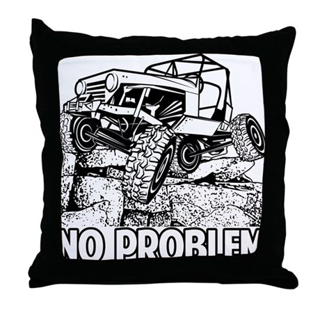 Throw Pillows Kmart : No Problem Rock Crawling Jeep Throw Pillow by offroadstyles