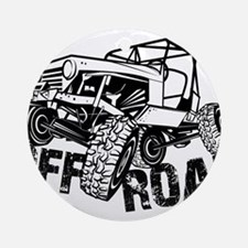 Off-Road Rock Crawler Jeep Ornament (Round)