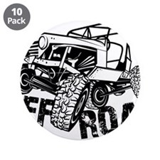 "Off-Road Rock Crawler Jeep 3.5"" Button (10 pack)"