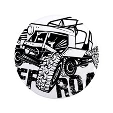 """Off-Road Rock Crawler Jeep 3.5"""" Button"""