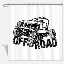 Off-Road Rock Crawler Jeep Shower Curtain
