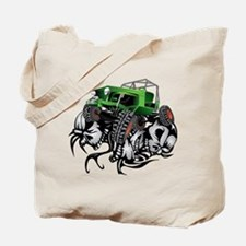 Skull Crawling Green Jeep Tote Bag