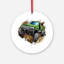 truck-green-crawl-mud Ornament (Round)