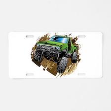 truck-green-crawl-mud Aluminum License Plate