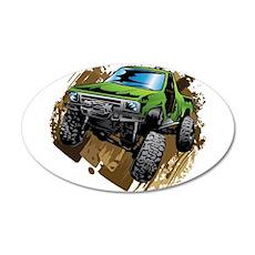 truck-green-crawl-mud Wall Decal