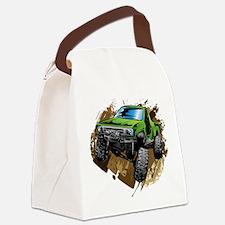 truck-green-crawl-mud Canvas Lunch Bag