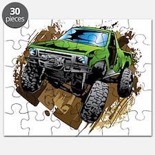 truck-green-crawl-mud Puzzle