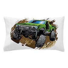 truck-green-crawl-mud Pillow Case