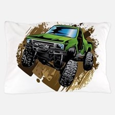truck-green-crawl-mud Pillow Case