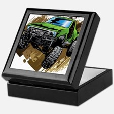 truck-green-crawl-mud Keepsake Box