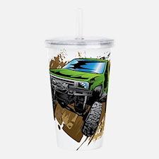 truck-green-crawl-mud Acrylic Double-wall Tumbler