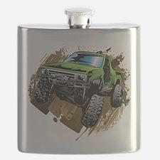 truck-green-crawl-mud Flask