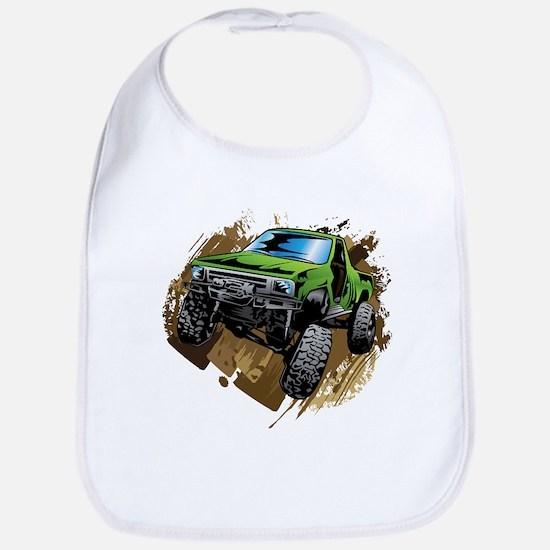 truck-green-crawl-mud Bib